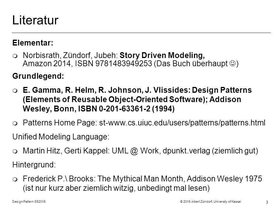 Design Pattern SS2015 © 2015 Albert Zündorf, University of Kassel 74 Flyweight Struktur Verhalten Daten