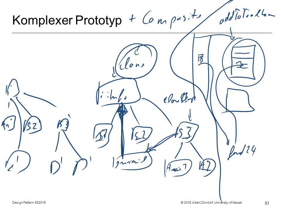 Design Pattern SS2015 © 2015 Albert Zündorf, University of Kassel 83 Komplexer Prototyp