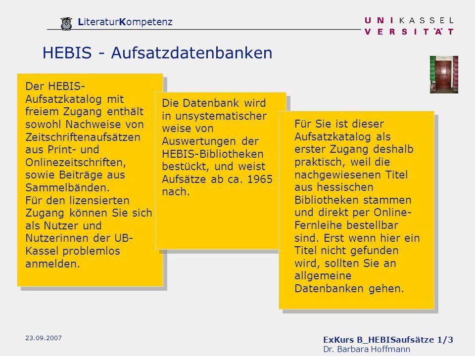 ExKurs B_HEBISaufsätze 1/3 Dr.