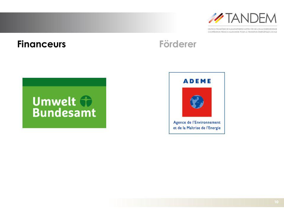 10 FinanceursFörderer