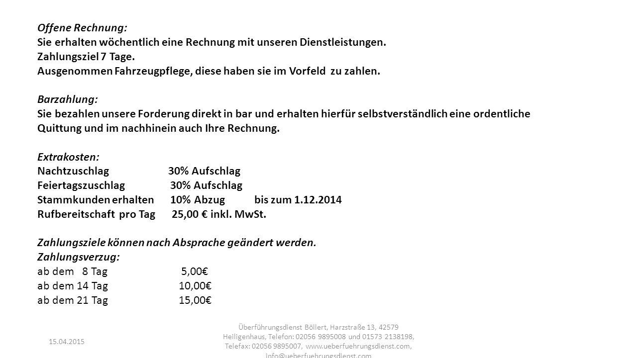 15.04.2015 Überführungsdienst Böllert, Harzstraße 13, 42579 Heiligenhaus, Telefon: 02056 9895008 und 01573 2138198, Telefax: 02056 9895007, www.ueberfuehrungsdienst.com, info@ueberfuehrungsdienst.com Geplante Dienstleistungen Träger: Wir kümmern uns um Ihre Träger.