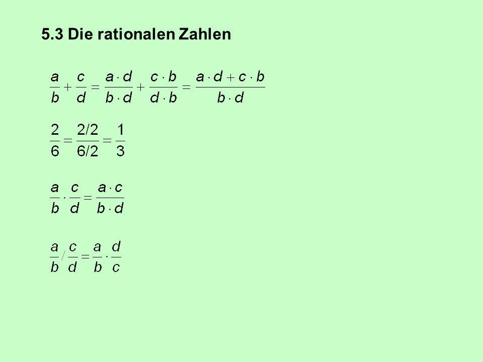 x ≤ |x| Die Abbildung Absolutbetrag bildet die ganze Zahl x auf die nicht negative Zahl |x| ab Cauchy-Schwarzsche Ungleichung |x + y| ≤ |x| + |y| |x| =