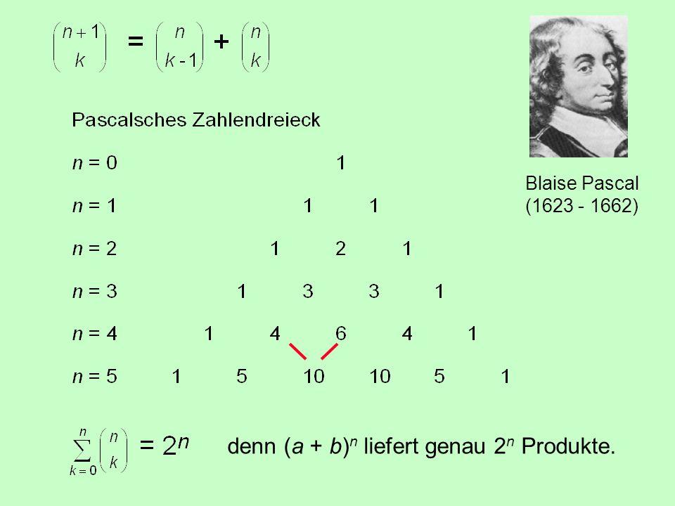 4.2 Der binomische Satz = = 1 = n= = = = = usw. = =
