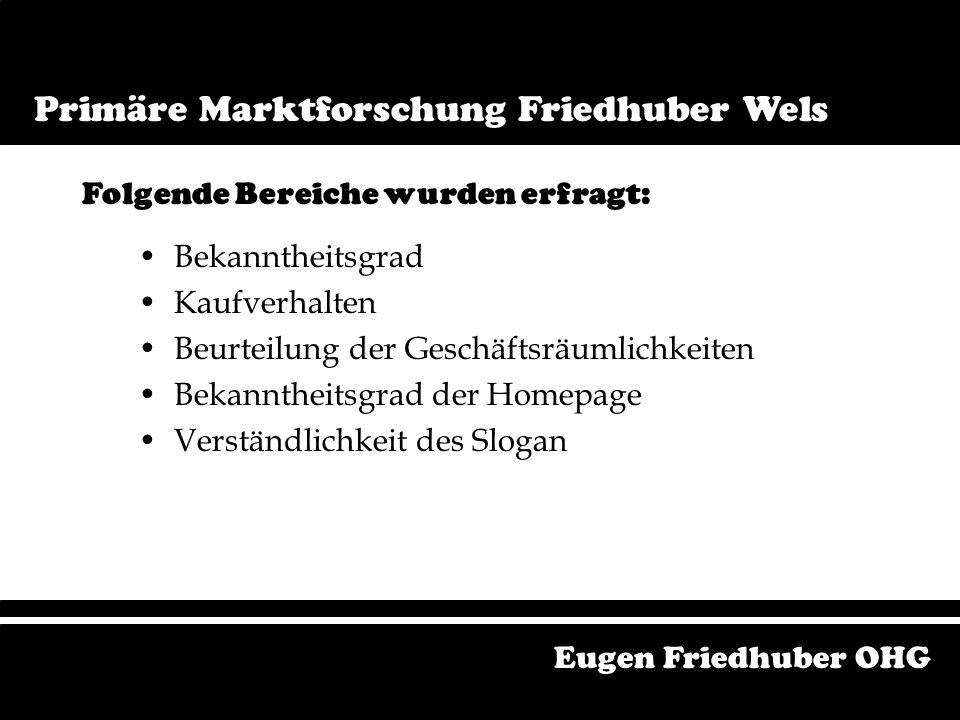 Ist Unternehmensform - KG Mitarbeiter Beschaffungspolitik Sortiment Eugen Friedhuber OHG Istzustandsanalyse