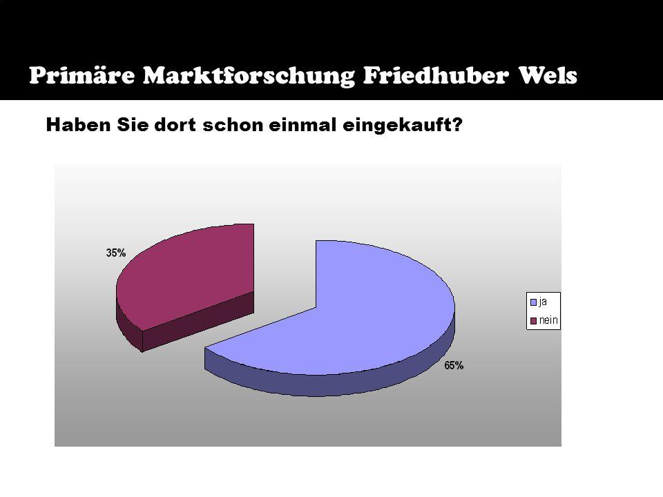 Primäre Marktforschung Friedhuber Bekanntheitsgrad Kaufverhalten Beurteilung der Geschäftsräumlichkeiten Bekanntheitsgrad der Homepage Verständlichkei