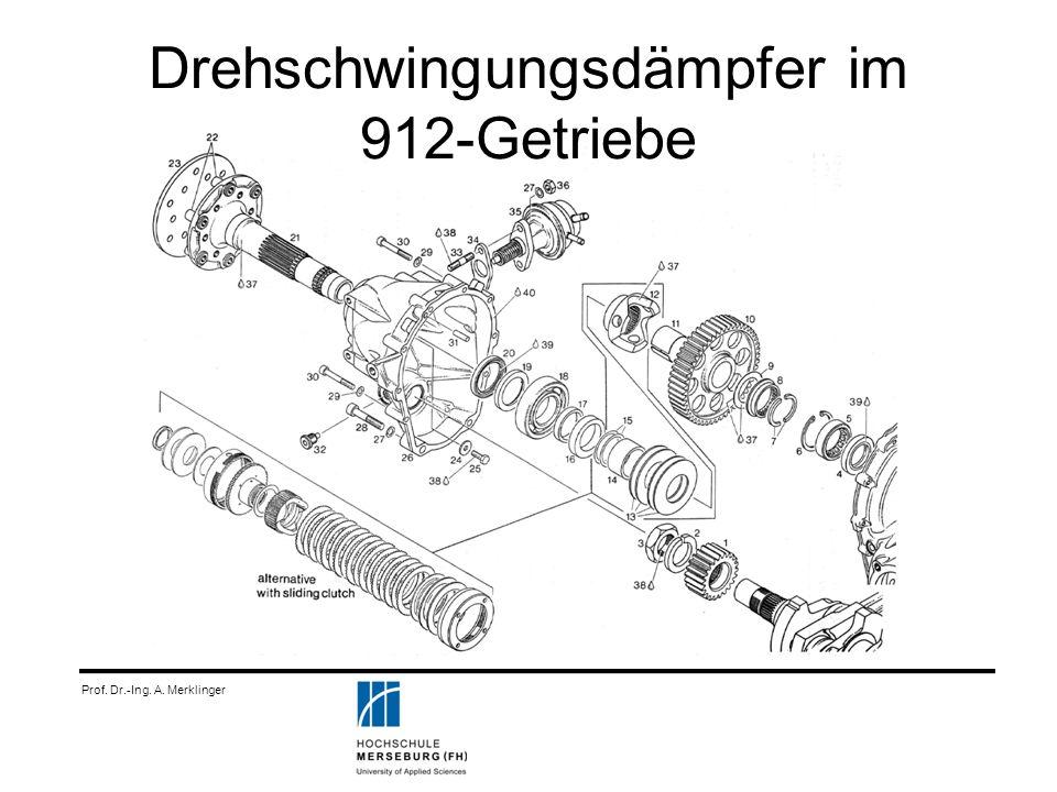 Prof. Dr.-Ing. A. Merklinger Drehschwingungsdämpfer im 912-Getriebe