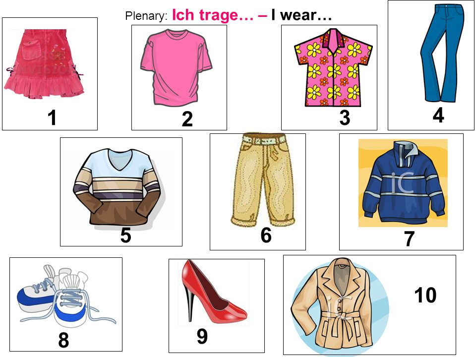 Plenary: Ich trage… – I wear…