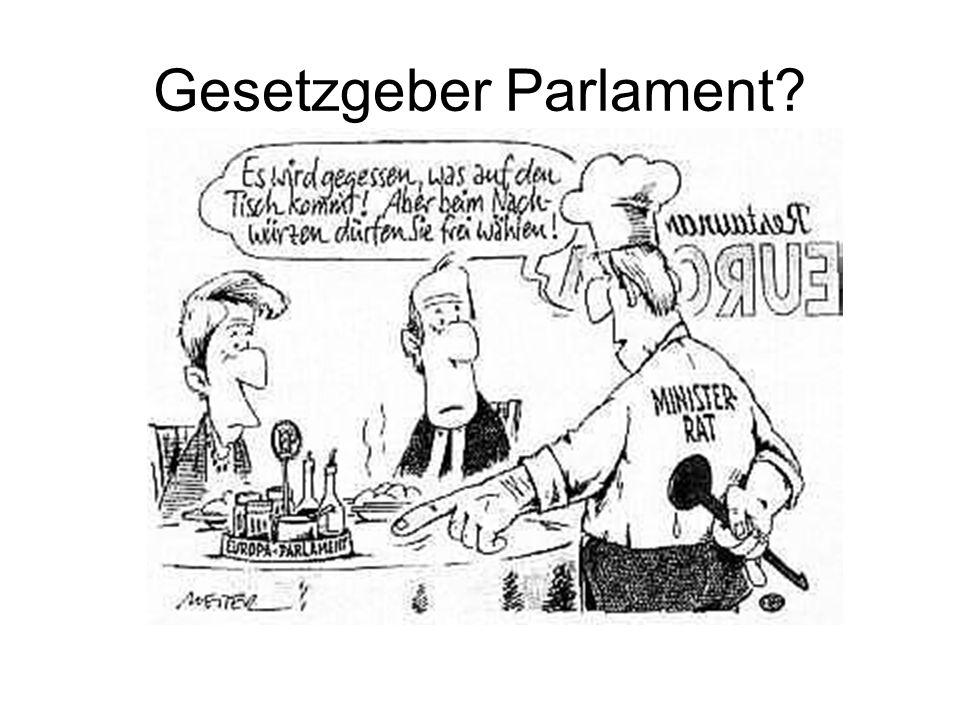 Gesetzgeber Parlament?