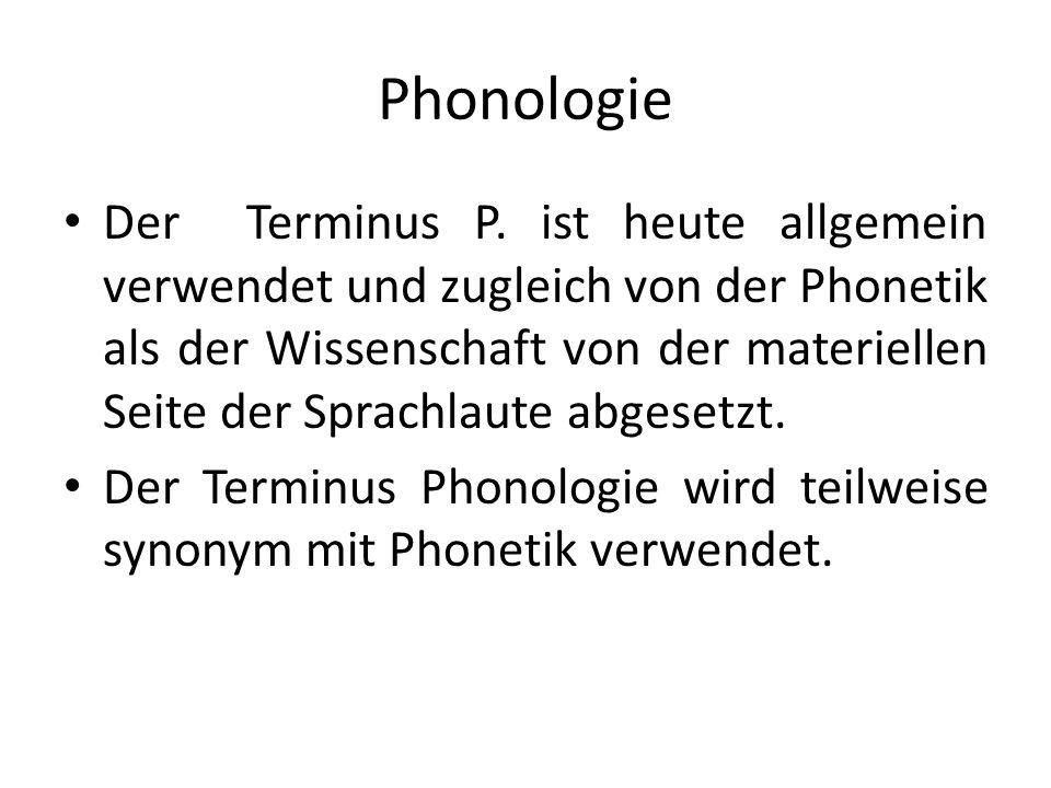 Phonologie Der Terminus P.