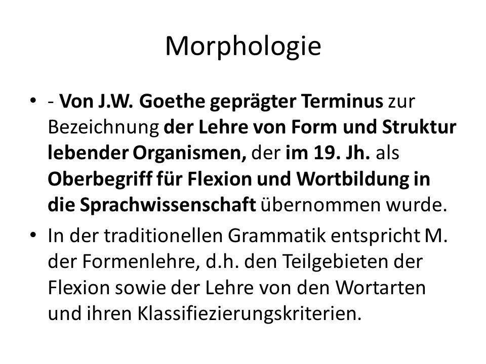 Morphologie - Von J.W.