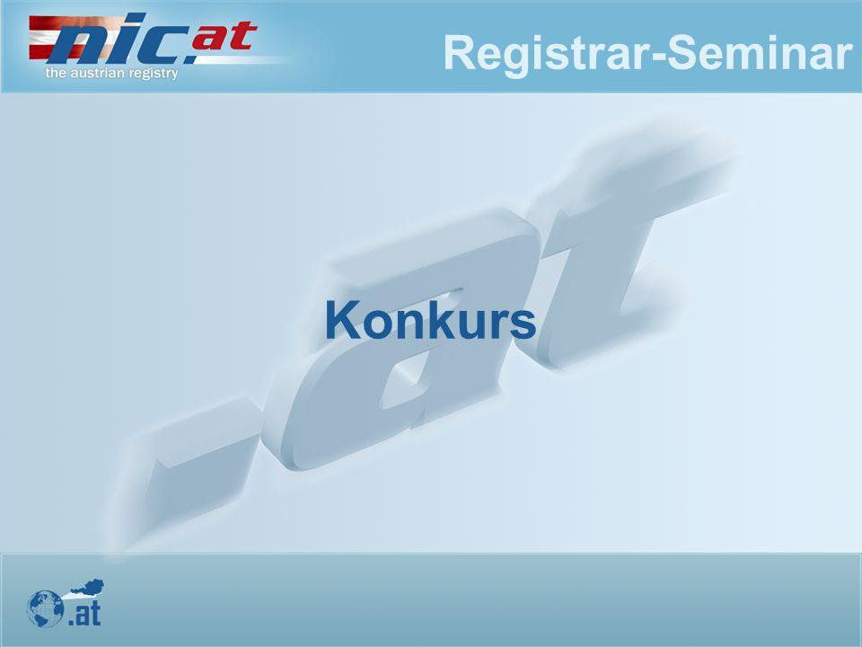 Registrar-Seminar Konkurs