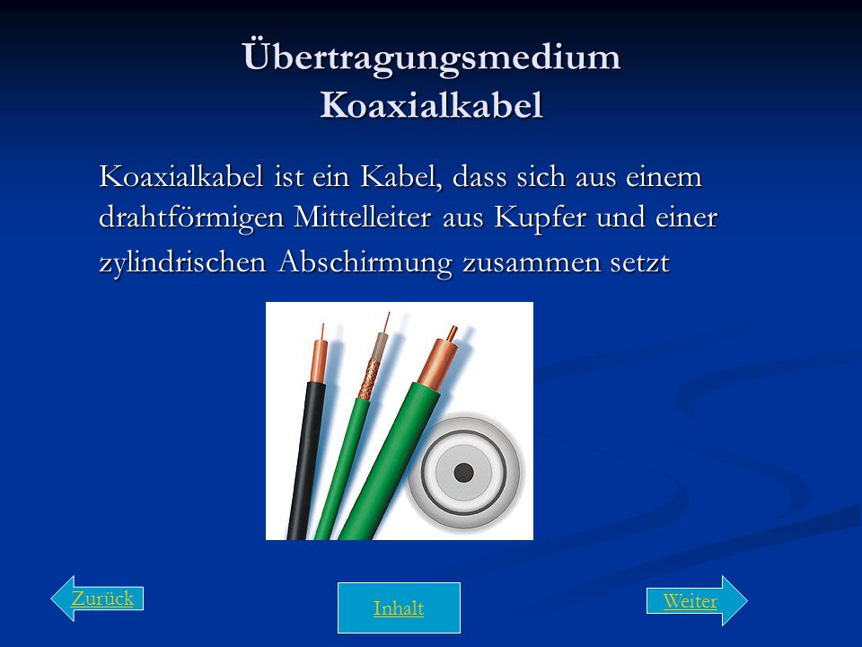 Übertragungsmedien  Zur Verbindung der Rechner werden in der Regel Kabel verwendet  Auswahlkriterien für die Verkabelung Störsicherheit Störsicherhe