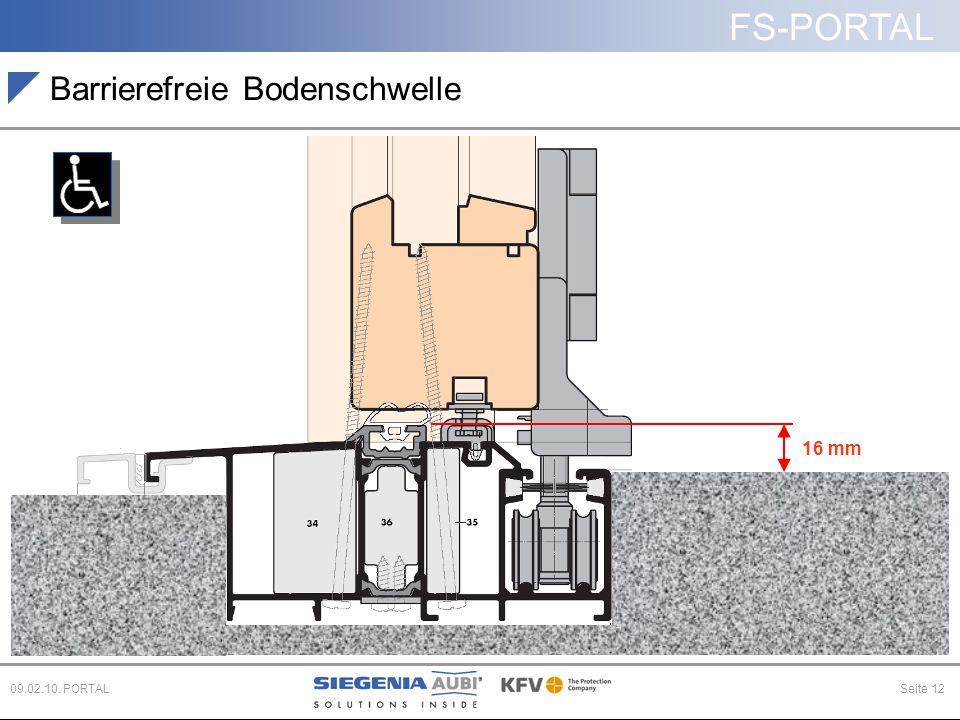 FS-PORTAL Seite 1209.02.10. PORTAL 16 mm Barrierefreie Bodenschwelle