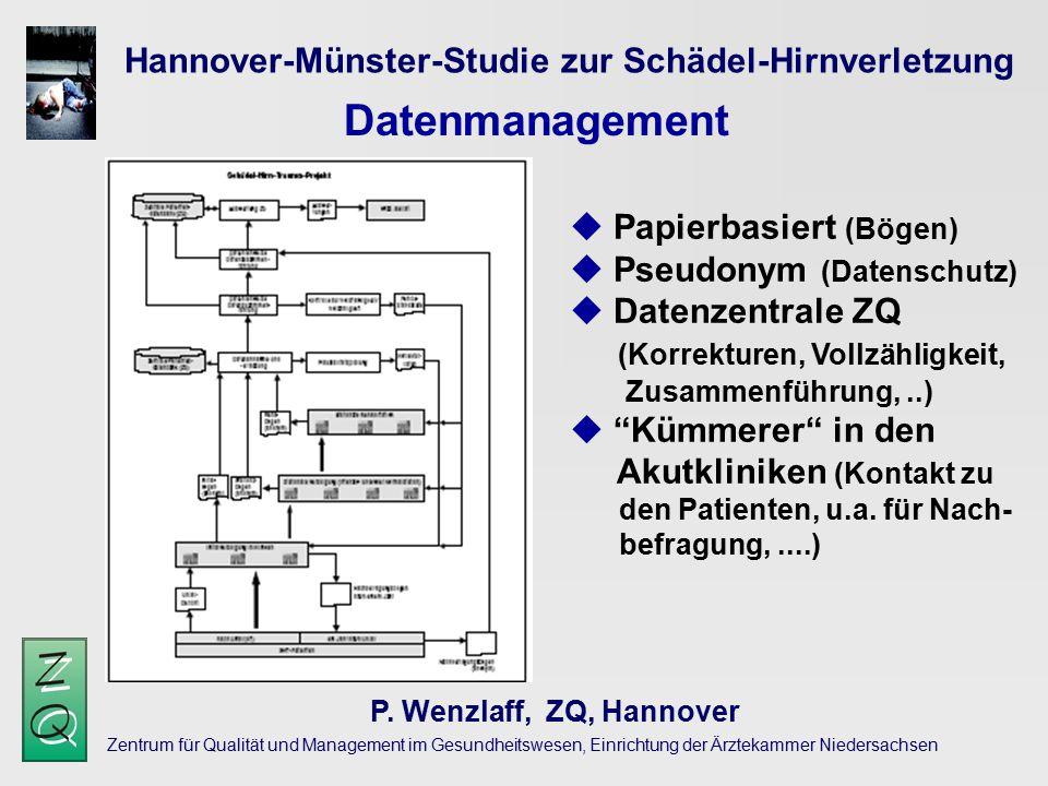Zentrum für Qualität und Management im Gesundheitswesen, Einrichtung der Ärztekammer Niedersachsen Hannover-Münster-Studie zur Schädel-Hirnverletzung