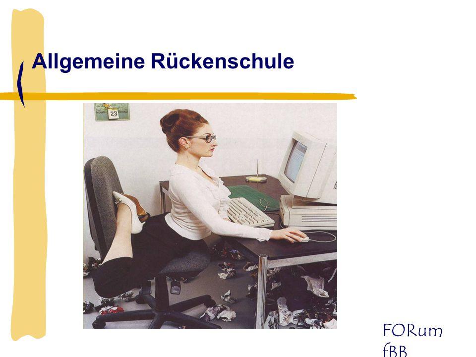 FORum fBB Allgemeine Rückenschule