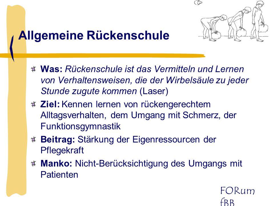 FORum fBB Kleine Hilfsmittel (1) Was: Reduzierung bzw.