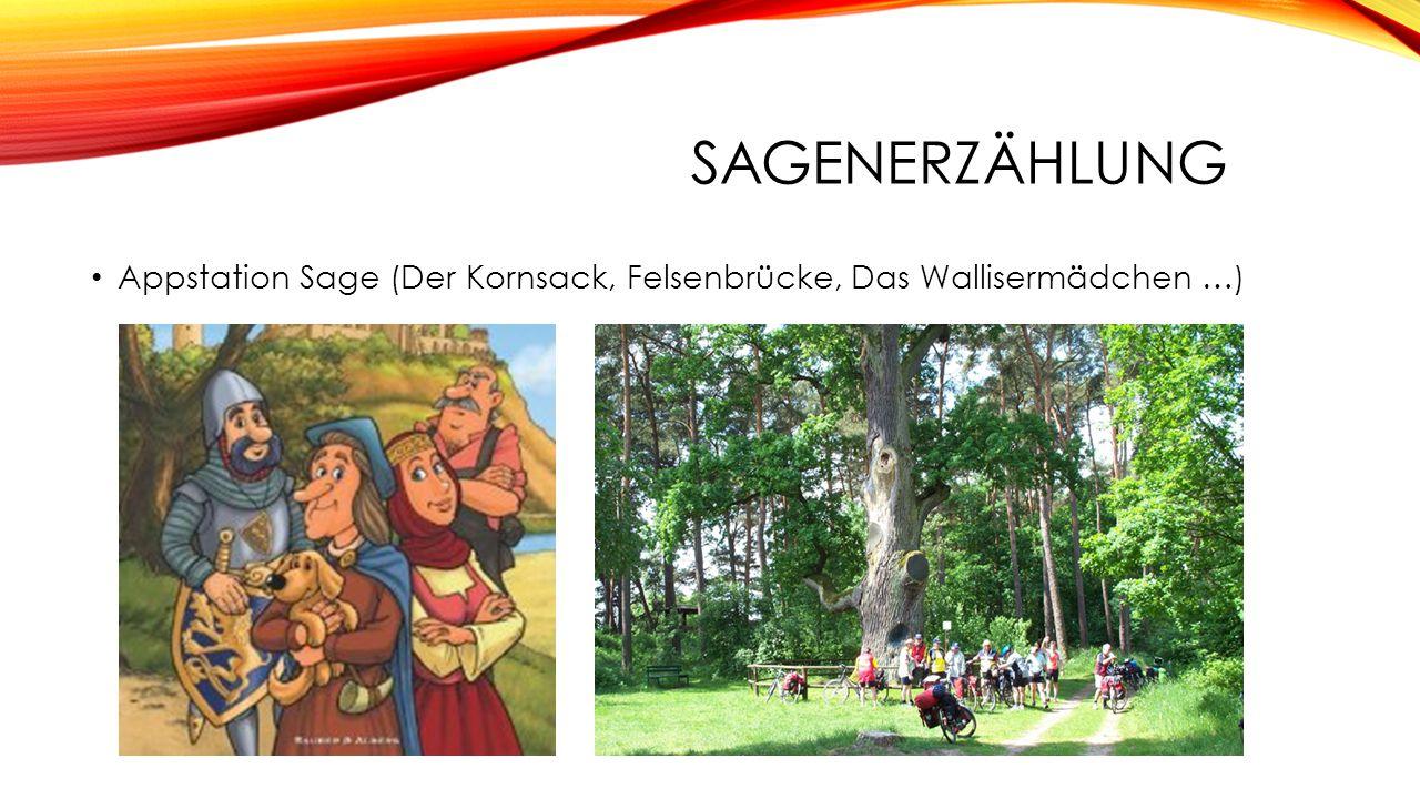 Appstation Sage (Der Kornsack, Felsenbrücke, Das Wallisermädchen …)