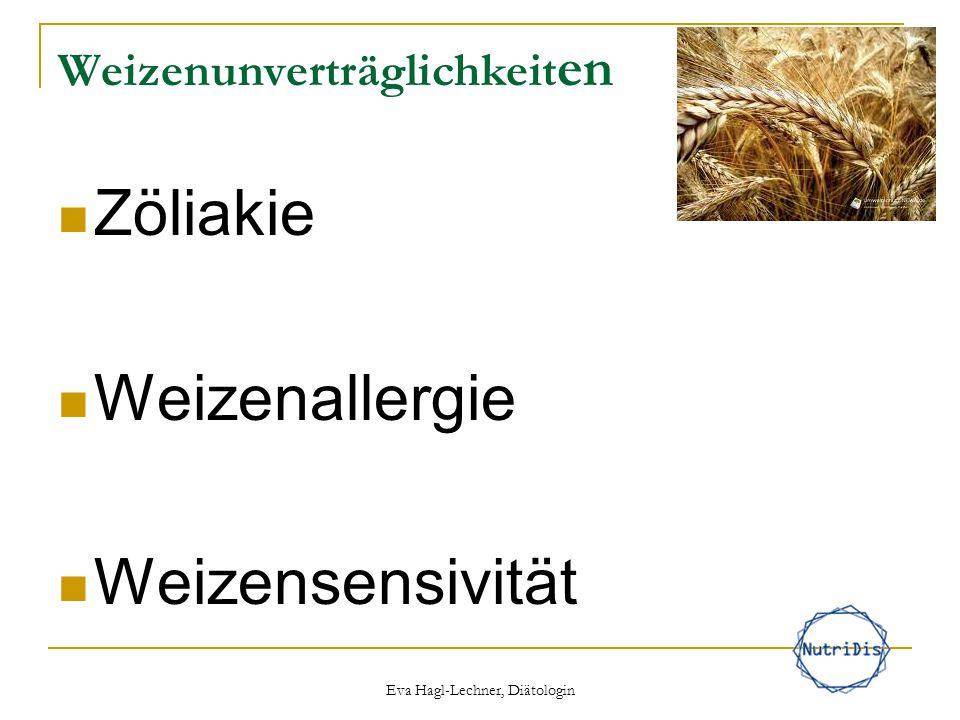 Weizenunverträglichkeit en Zöliakie Weizenallergie Weizensensivität Eva Hagl-Lechner, Diätologin
