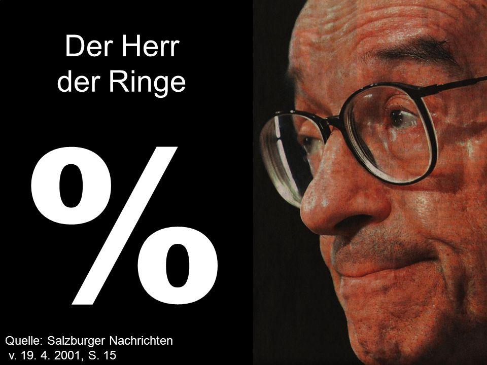 SSPF/02/03/17 % Quelle: Salzburger Nachrichten v. 19. 4. 2001, S. 15 Der Herr der Ringe