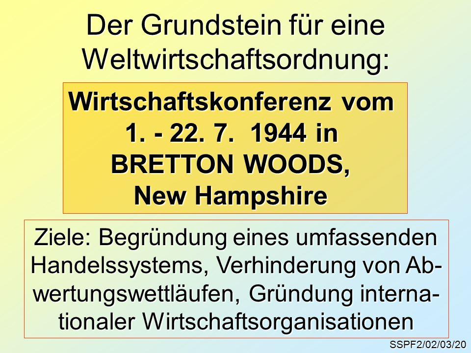 SSPF2/02/03/20 Der Grundstein für eine Weltwirtschaftsordnung: Wirtschaftskonferenz vom 1.