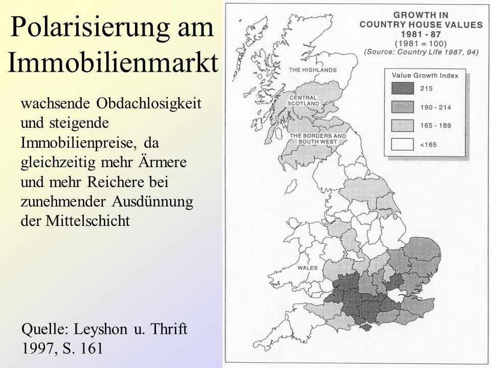 Polarisierung am Immobilienmarkt Quelle: Leyshon u.