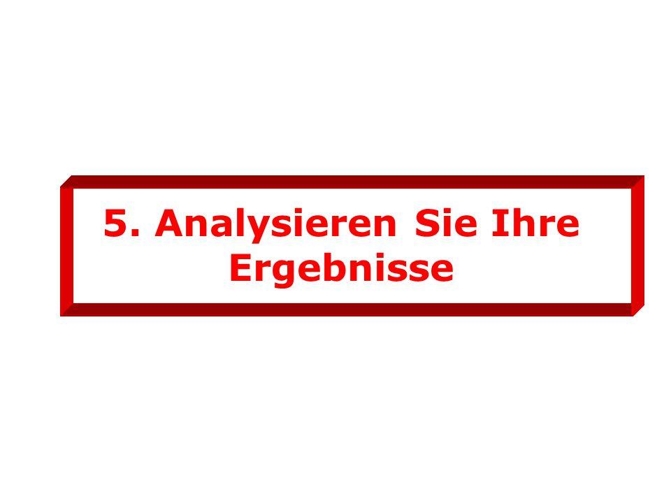 5. Analysieren Sie Ihre Ergebnisse