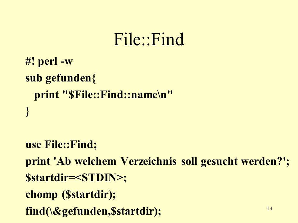 14 File::Find #.