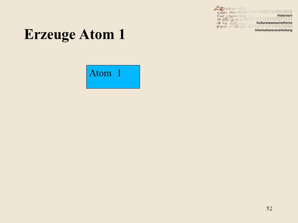 Erzeuge Atom 1 Atom 1 52