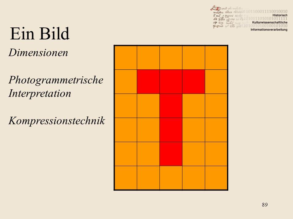 Dimensionen Photogrammetrische Interpretation Kompressionstechnik Ein Bild 89
