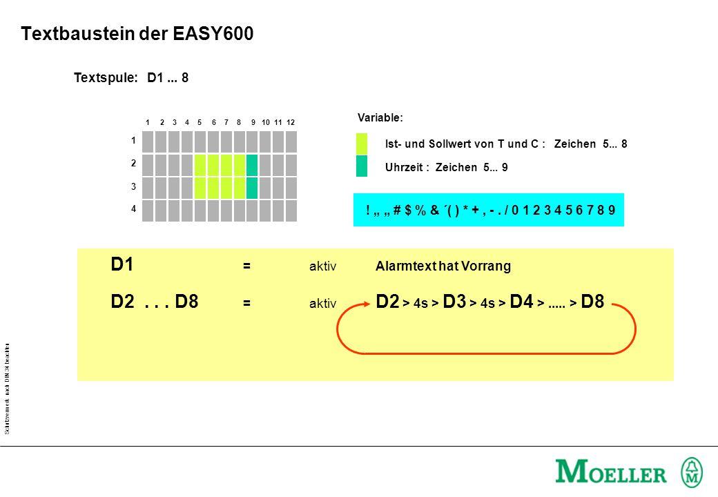 Schutzvermerk nach DIN 34 beachten 1 2 3 4 5 6 7 8 9 10 11 12 Textspule: D1...
