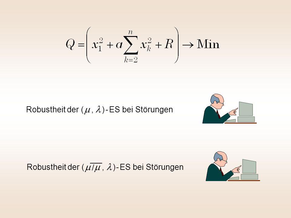 Robustheit der (   / , ) - ES bei Störungen Robustheit der (  , ) - ES bei Störungen
