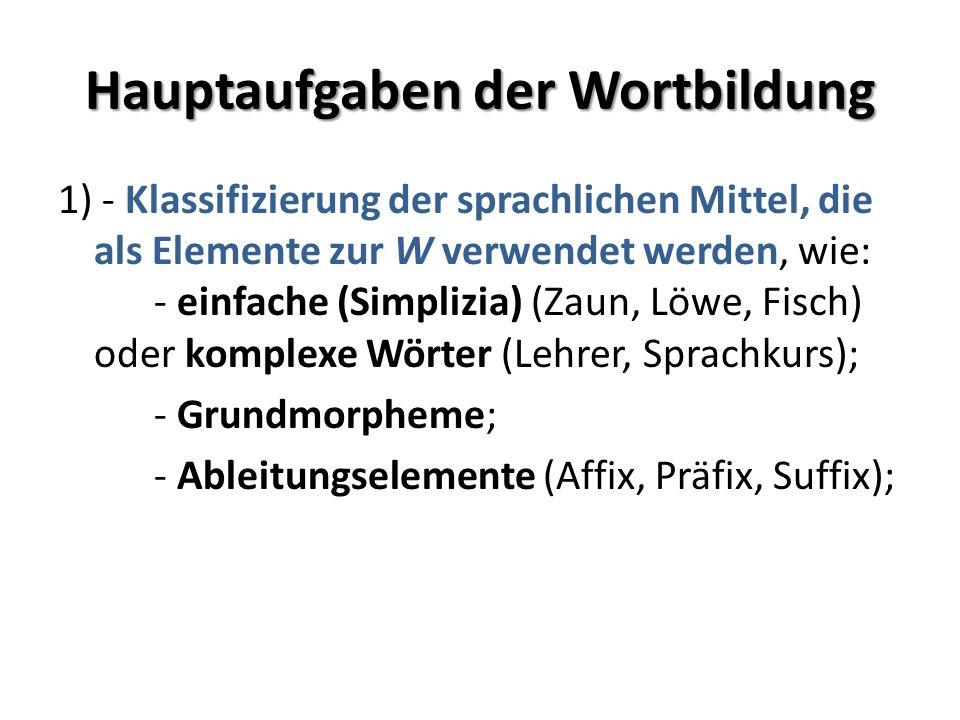 Fortsetzung 2) Beschreibung der Strukturtypen und – modelle der W.