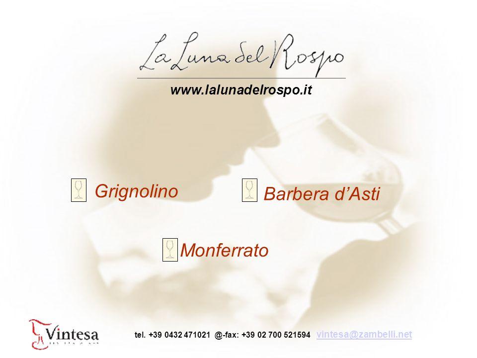 Grignolino Barbera d'Asti Monferrato www.lalunadelrospo.it tel.