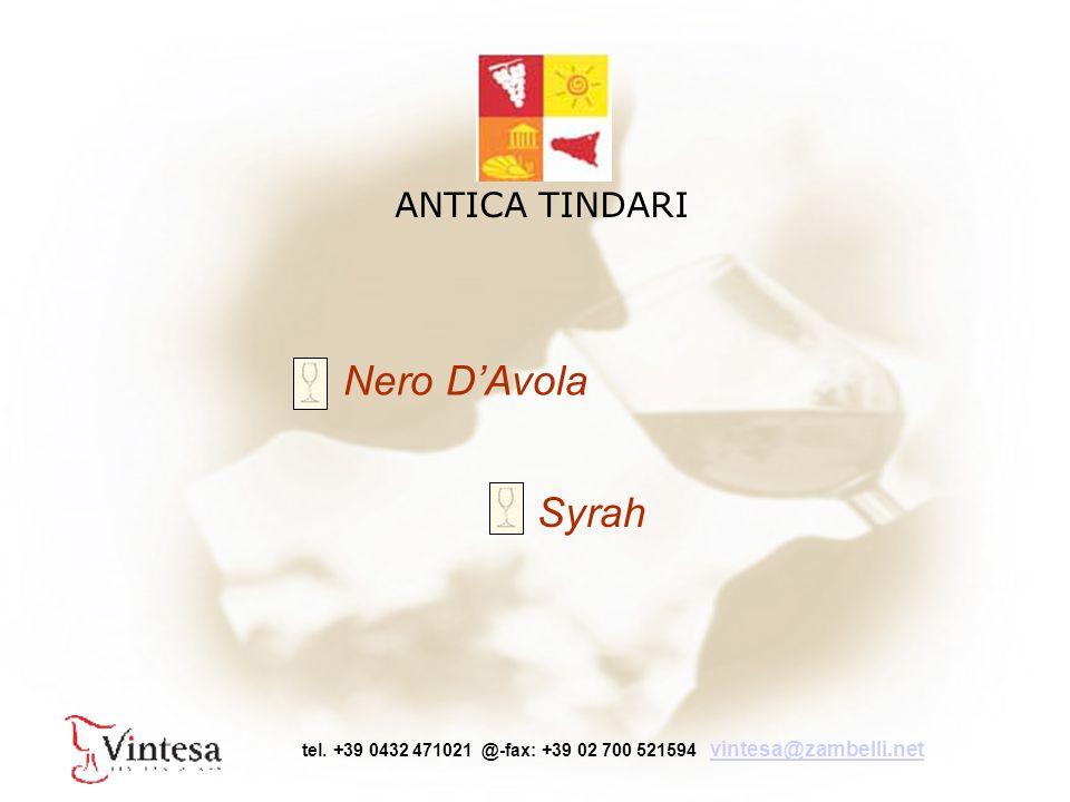 Nero D'Avola Syrah ANTICA TINDARI tel.