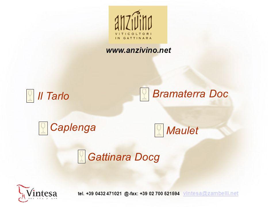 Gattinara Docg Bramaterra Doc Il Tarlo Caplenga Maulet www.anzivino.net tel.