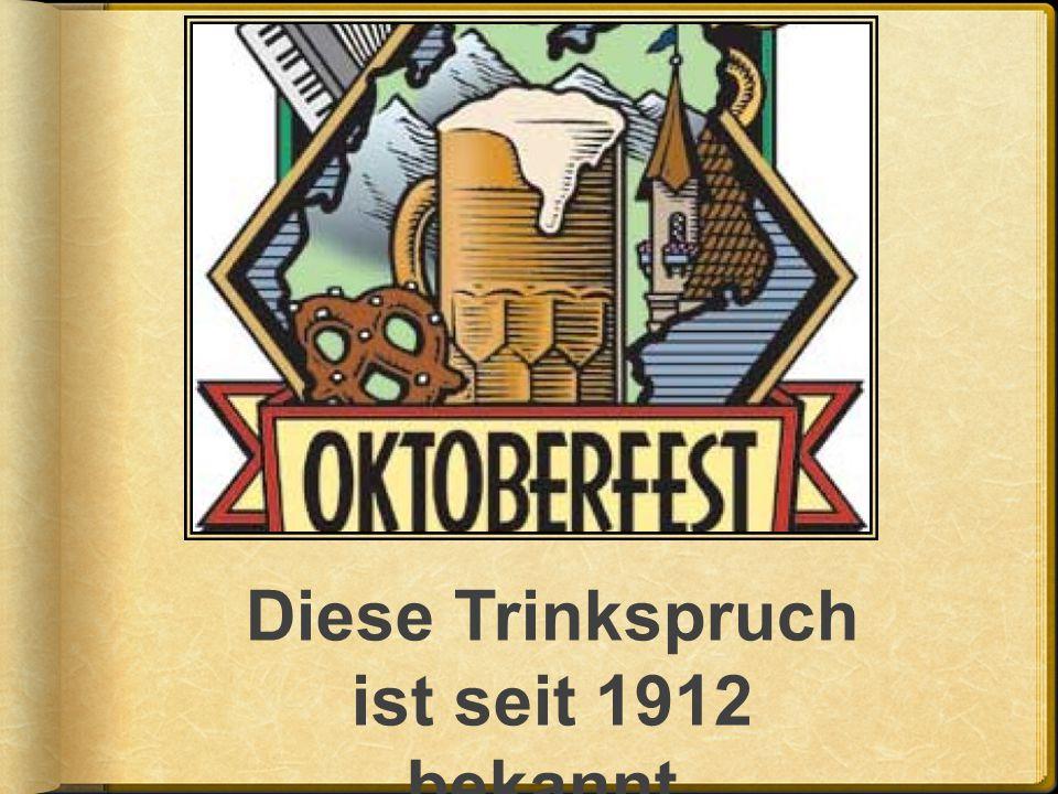 Eine Tradition ist das öffnen des ersten Bierfasses.