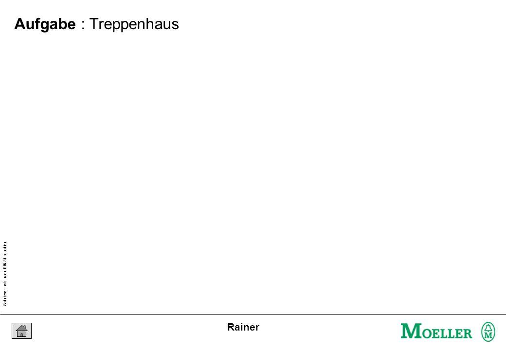 Schutzvermerk nach DIN 34 beachten 25/04/15 Seite 12 Rainer Aufgabe : Treppenhaus