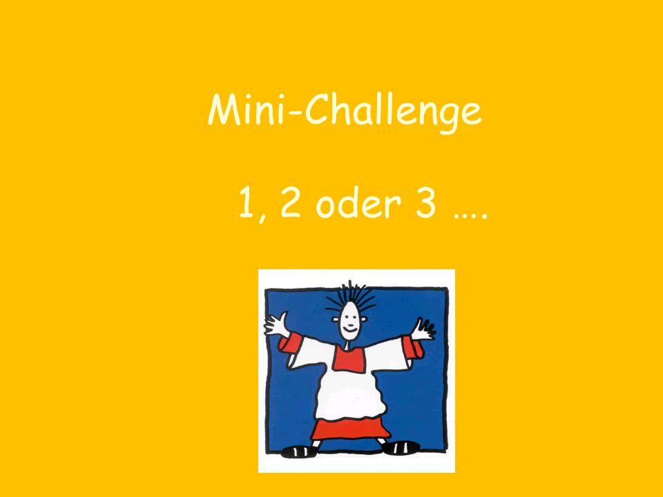 1, 2 oder 3 …. Mini-Challenge