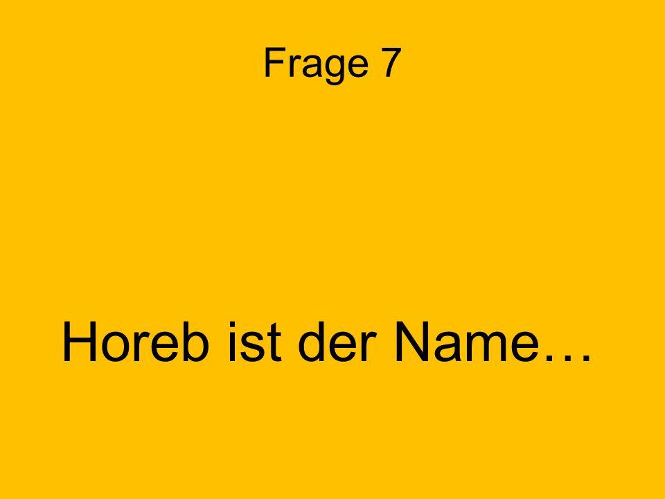 Frage 7 Horeb ist der Name…