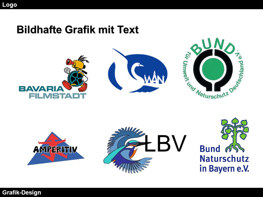 Logo Grafik-Design Bildhafte Grafik mit Text