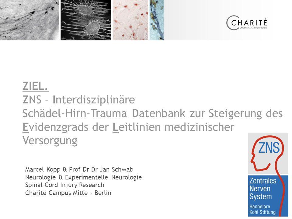 Marcel Kopp & Prof Dr Dr Jan Schwab Neurologie & Experimentelle Neurologie Spinal Cord Injury Research Charité Campus Mitte - Berlin ZIEL.