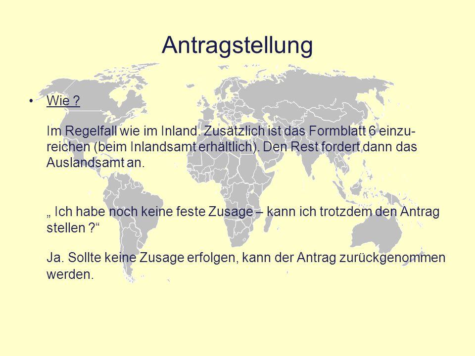 Besondere Voraussetzungen Auslandsstudium 1.