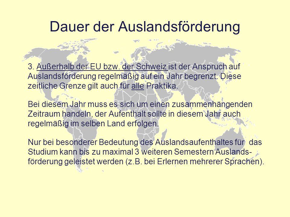"""Sonstige Hinweise """"Was gibt es sonst Wissenswertes? Der Leistungsnachweis nach § 48 BAföG muss beim Auslandsamt nicht vorgelegt werden, wenn das verwaltungsmäßige 4."""