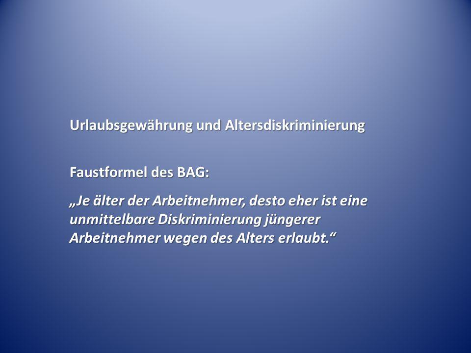 Zusätzlicher tariflicher Urlaubstag ab 40 – BAG Urt.