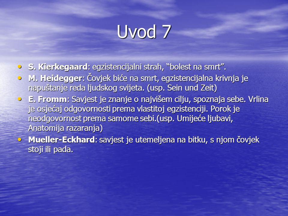 Uvod 8 V.Frankl: duh je prkos, podsvijest duh, Bog podsvijesti.(usp.