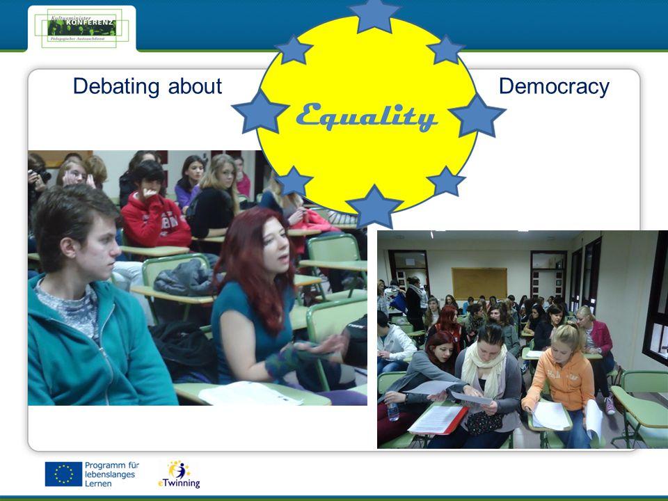eTwinning - Das Netzwerk für Schulen in EuropaeTwinning - Das Netzwerk für Schulen in Europa Debating aboutDemocracy