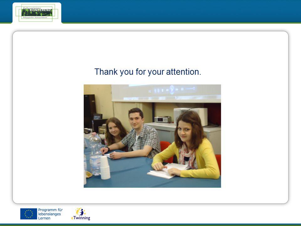 eTwinning - Das Netzwerk für Schulen in EuropaeTwinning - Das Netzwerk für Schulen in Europa Thank you for your attention.
