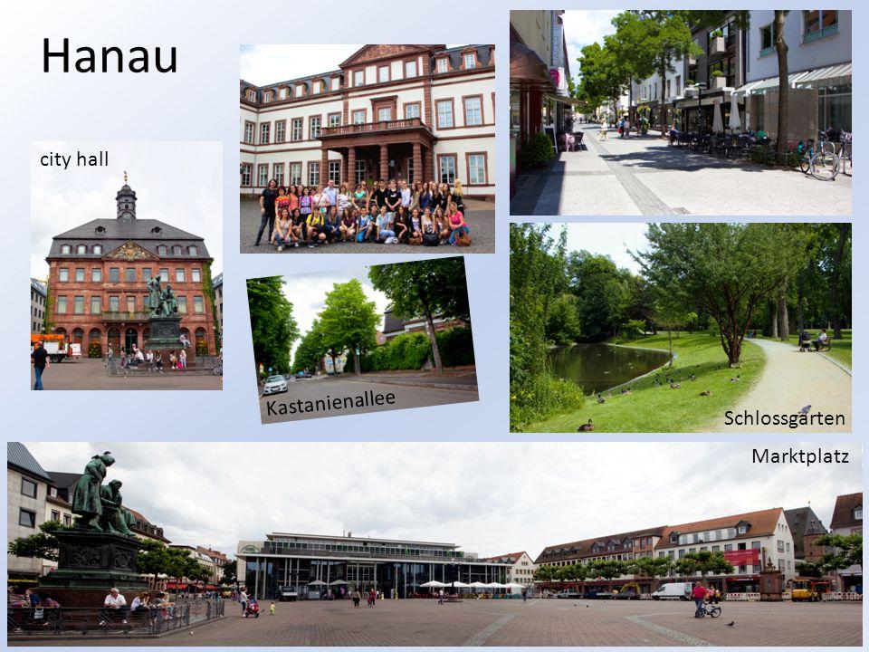 Hanau city hall Kastanienallee Schlossgarten Marktplatz