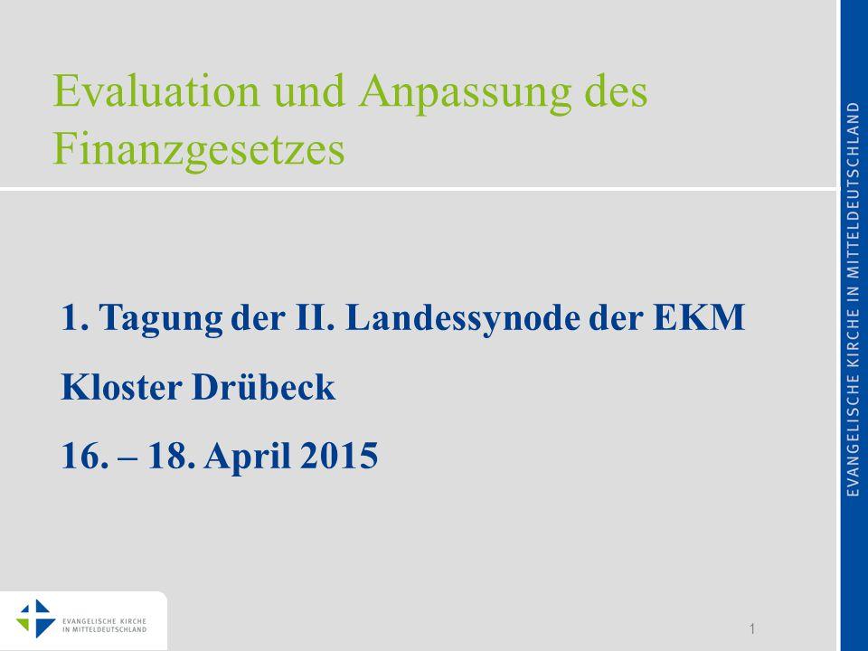 1 Evaluation und Anpassung des Finanzgesetzes 1. Tagung der II.