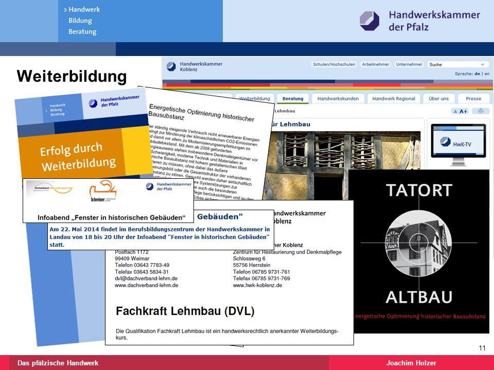 Joachim HolzerDas pfälzische Handwerk 11 Weiterbildung